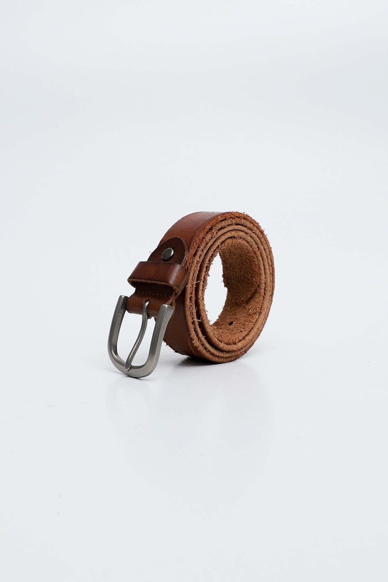 Edgy Brown Leather Belt