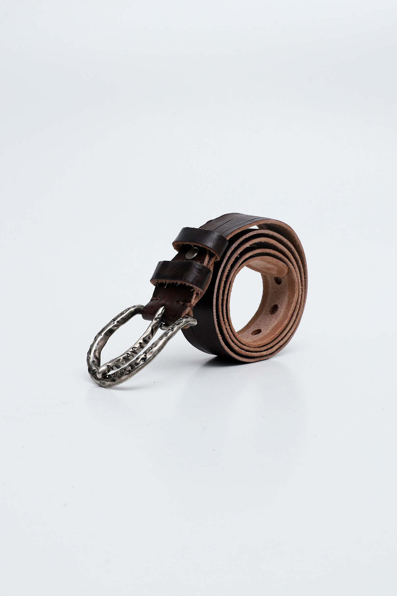 Dark Tan Leather Belt