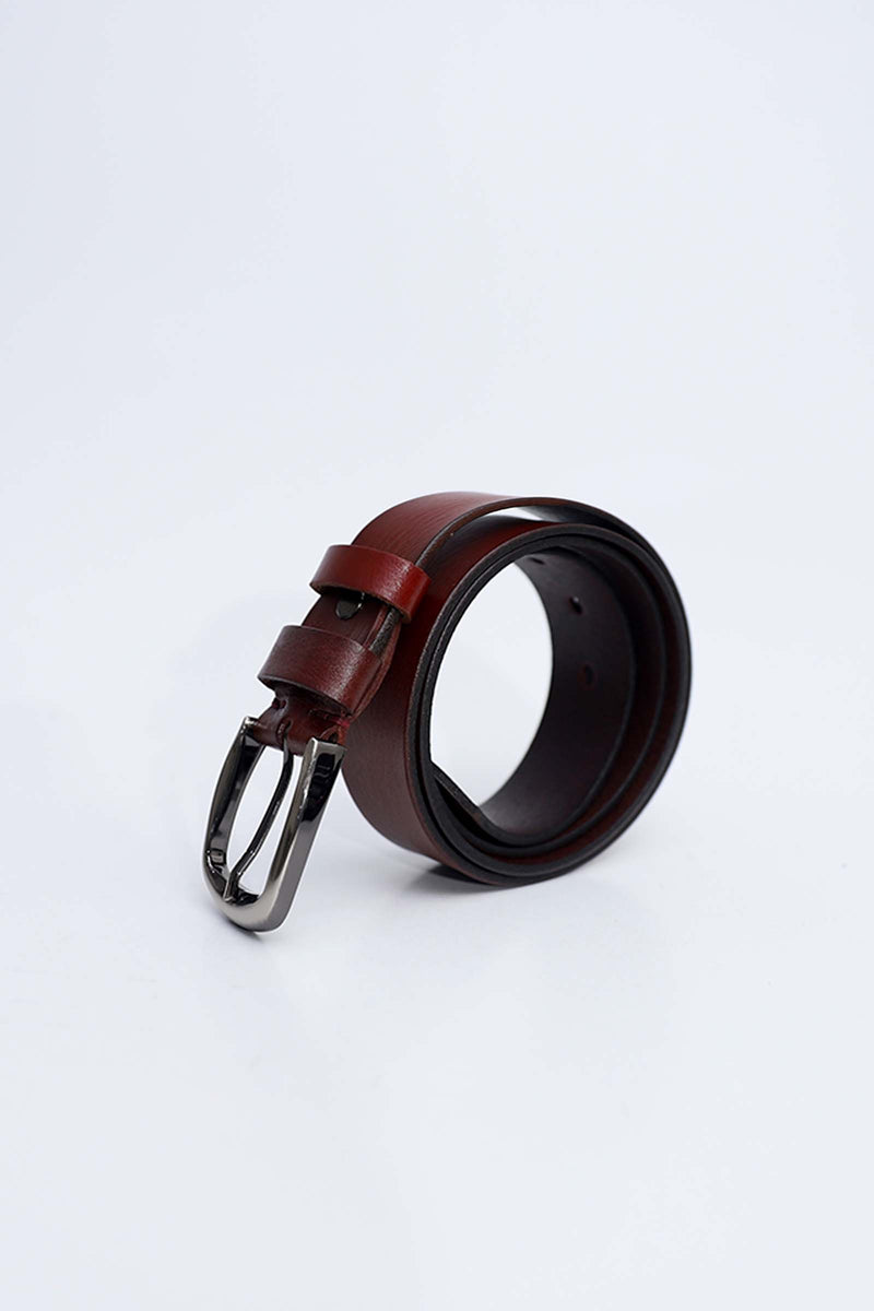 Matt Red Leather Belt