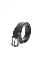 Black Dark Buckle Leather Belt