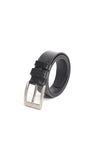 Slick Black Leather Belt