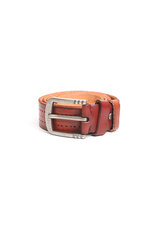 Rustic Dotted Leather Belt