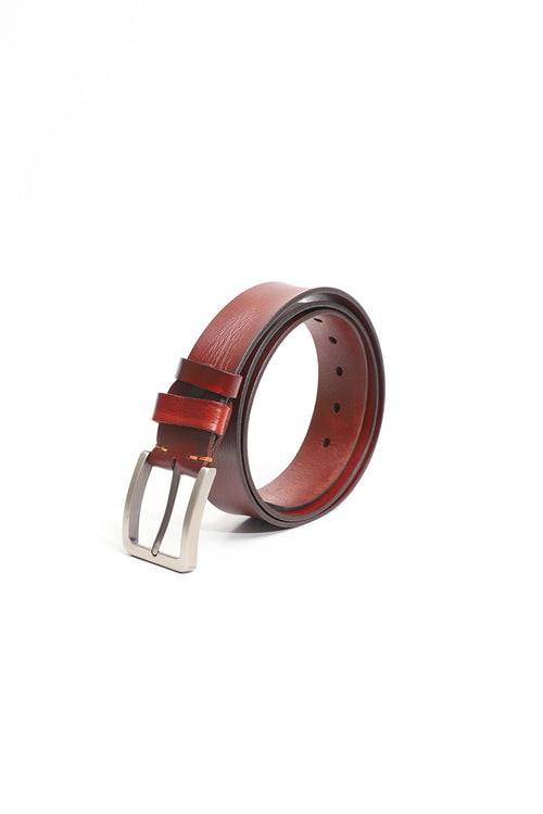 Coffee Colored Leather Belt