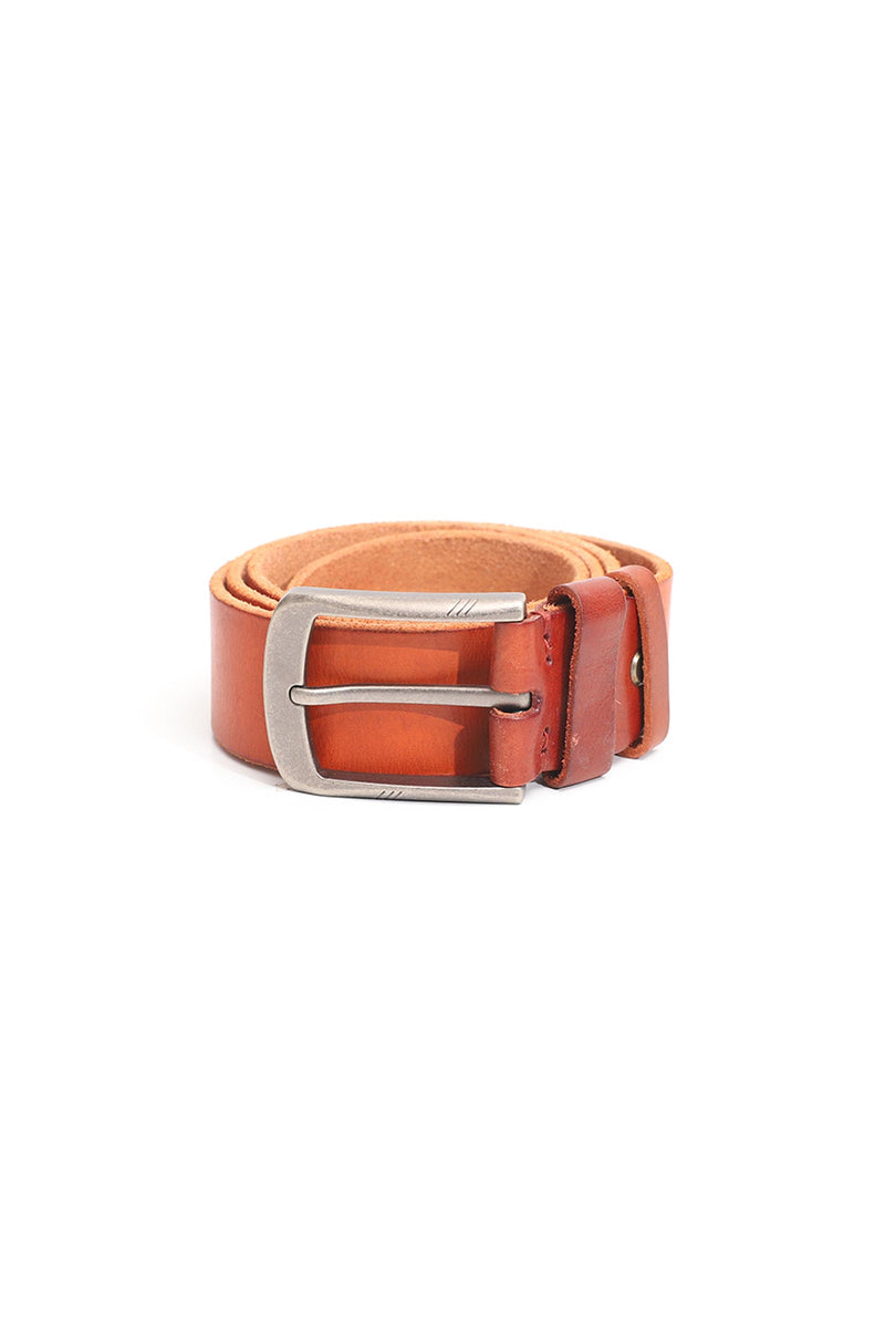 Rustic Brown Leather Belt