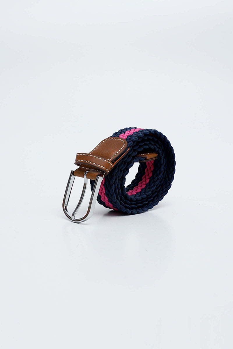 Pink & Blue Canvas Belt