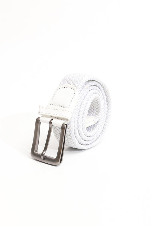 Solid White Canvas Belt