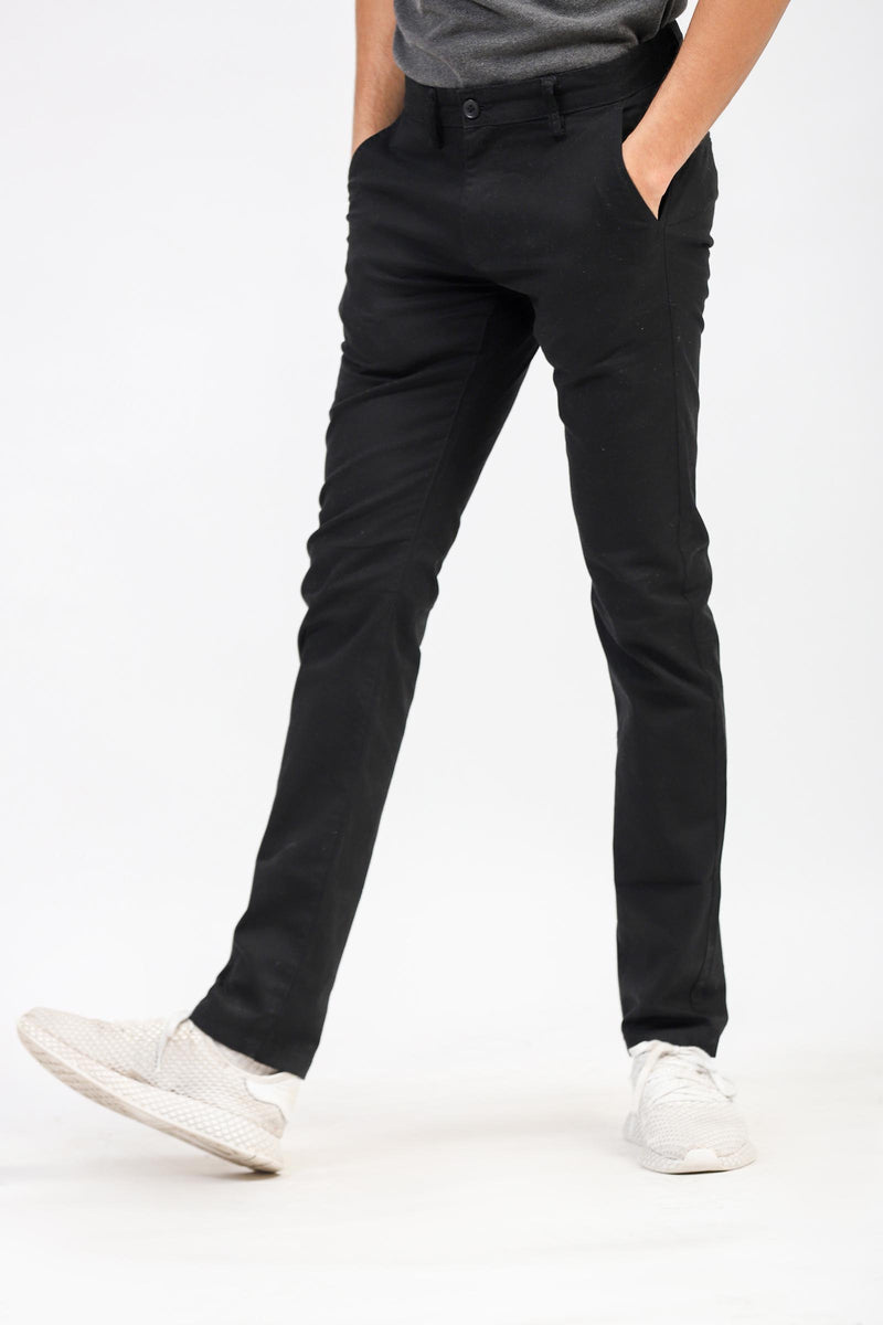 Basic Black Chinos
