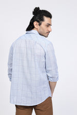Sky Blue Windowpane Shirt