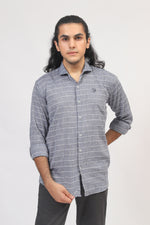 Grey Check Casual Shirt