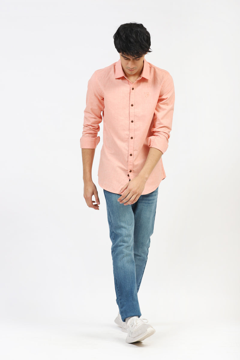 Peach Pink Casual Shirt