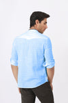 Textured Light Blue Shirt