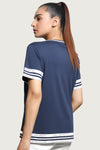 White Stripes Navy T-Shirt