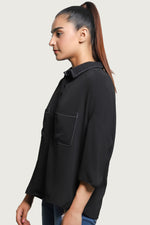 Two Pocket Black Top