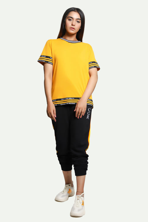 Black Stripes Yellow T-Shirt