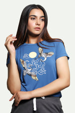 Blue Flamingo Graphics T-Shirt