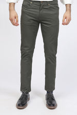 Olive Green 5-Pocket Pants