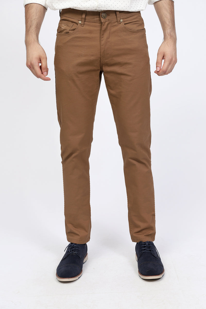 Light Brown 5-Pocket Pants