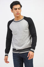 Contrast Sleeves Sweater
