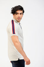 Polo With Multi-Striped Sleeves