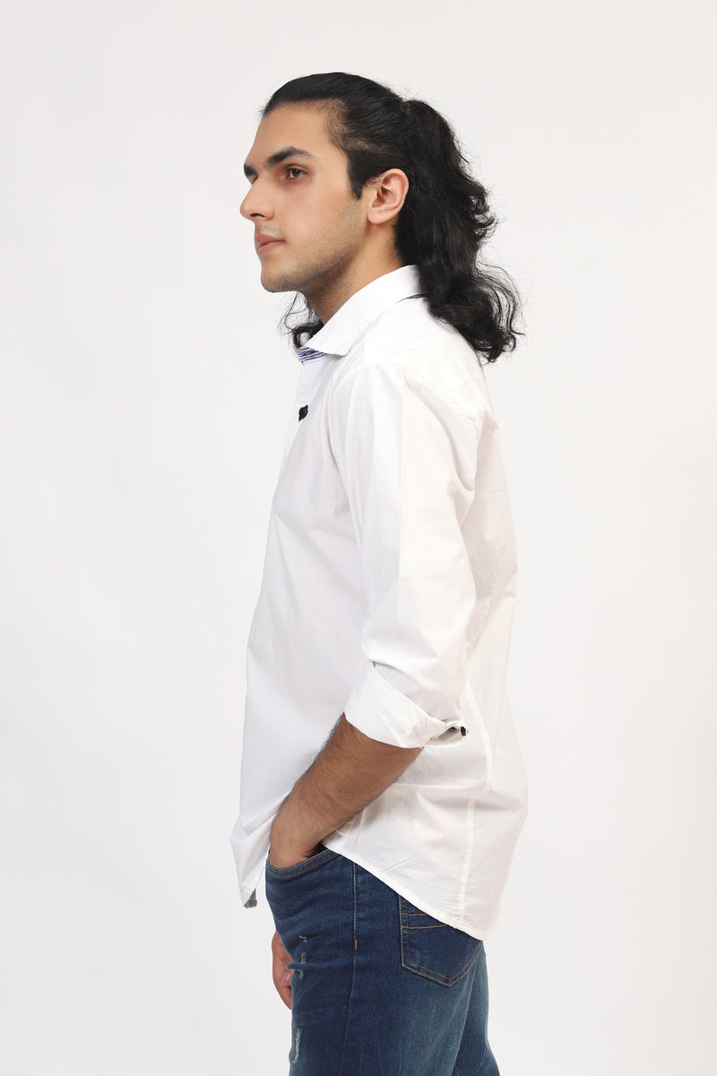 Plain White Casual Shirt