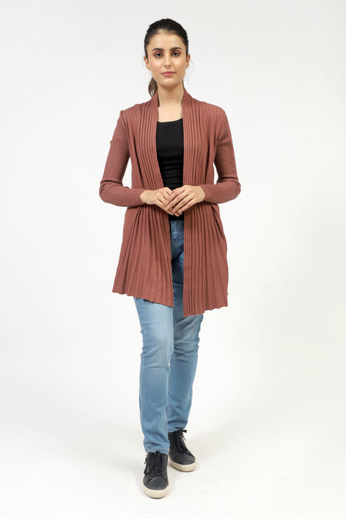 Long Pleated Flare Sweater