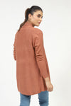 Rust Textured Wide Flared Sweater