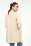 Light Beige Long Fine Gauge Sweater