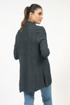 Olive Green Textured Wide Flared Sweater
