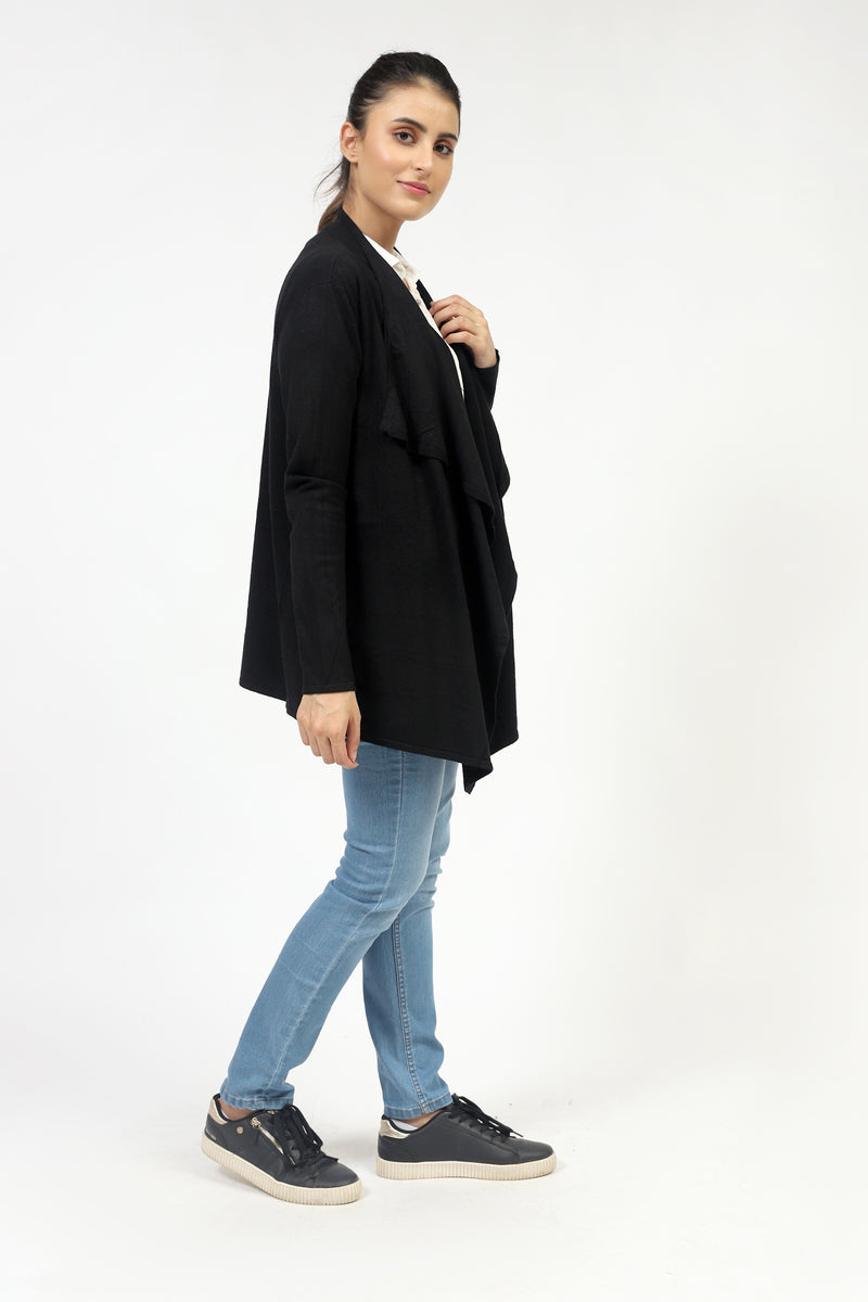 Basic Fine Gauge Sweater With Collar