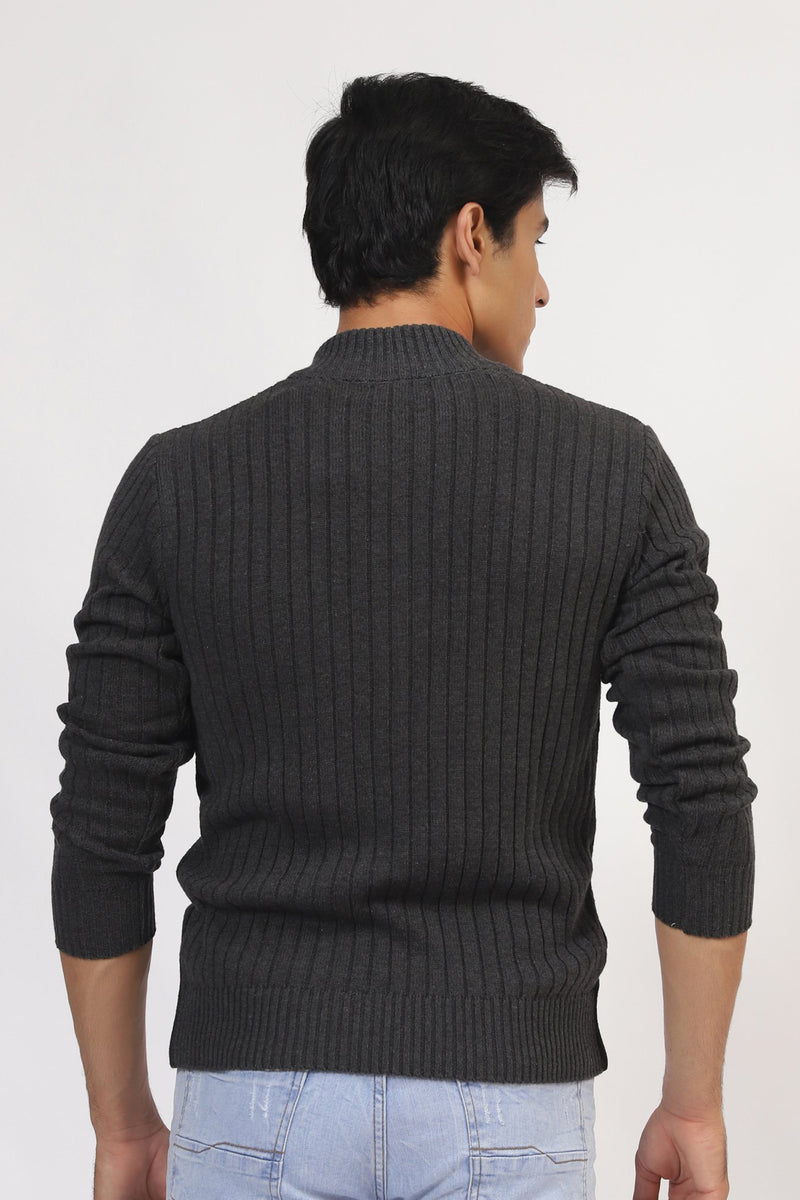 Charcoal Zipper Sweater