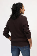 Chocolate Full Sleeves Sweater