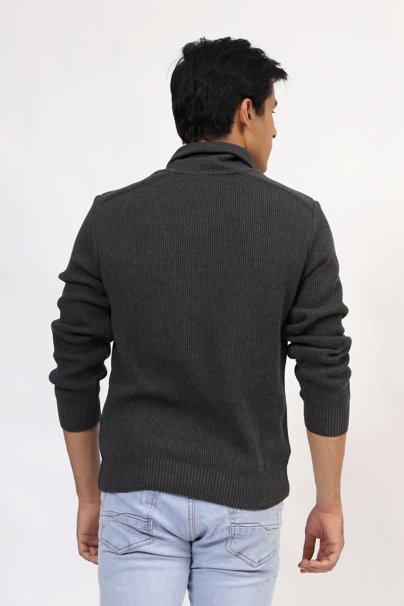 Charcoal Full Sleeves Sweater