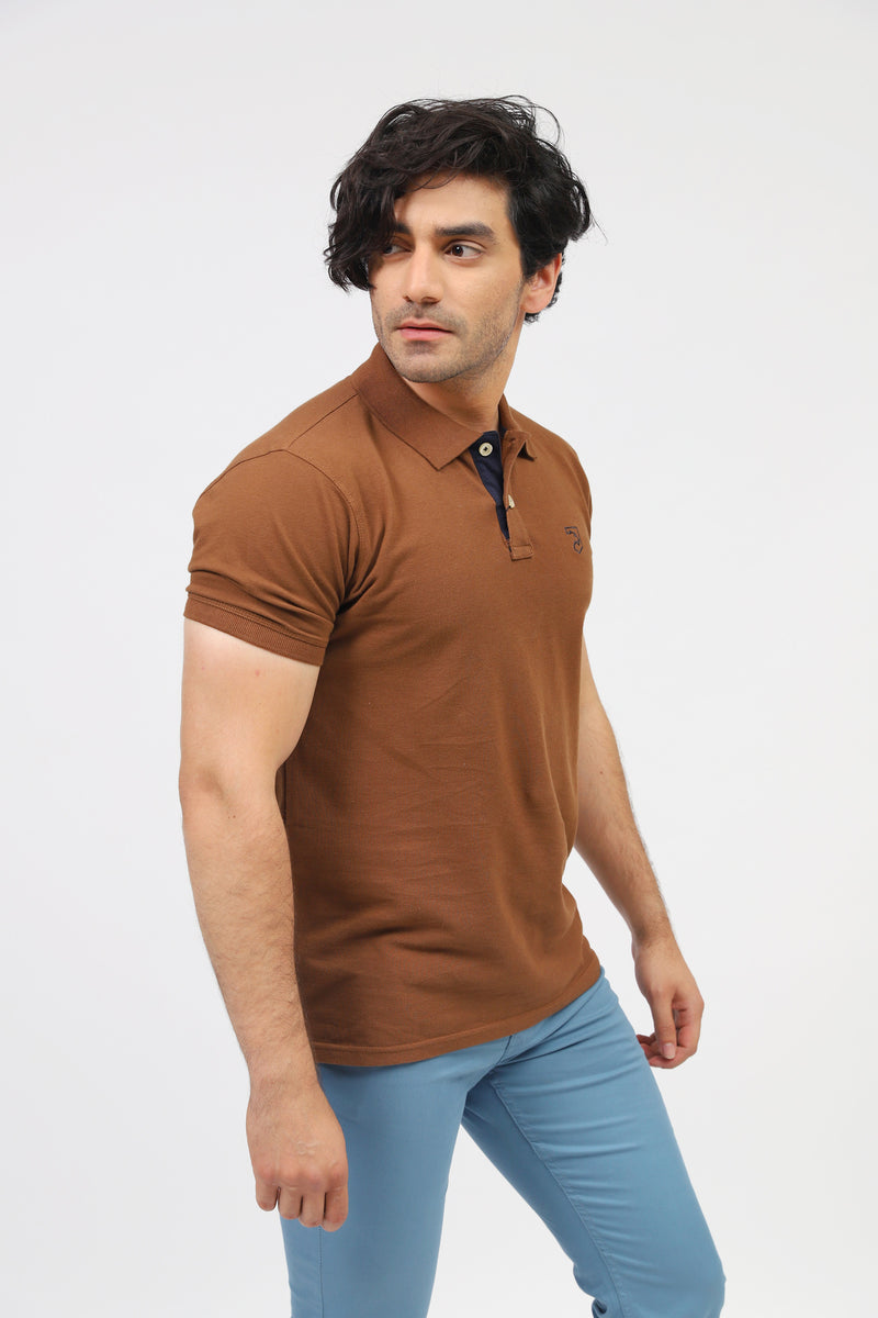 Solid Brown Polo