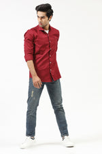 Red Casual Shirt