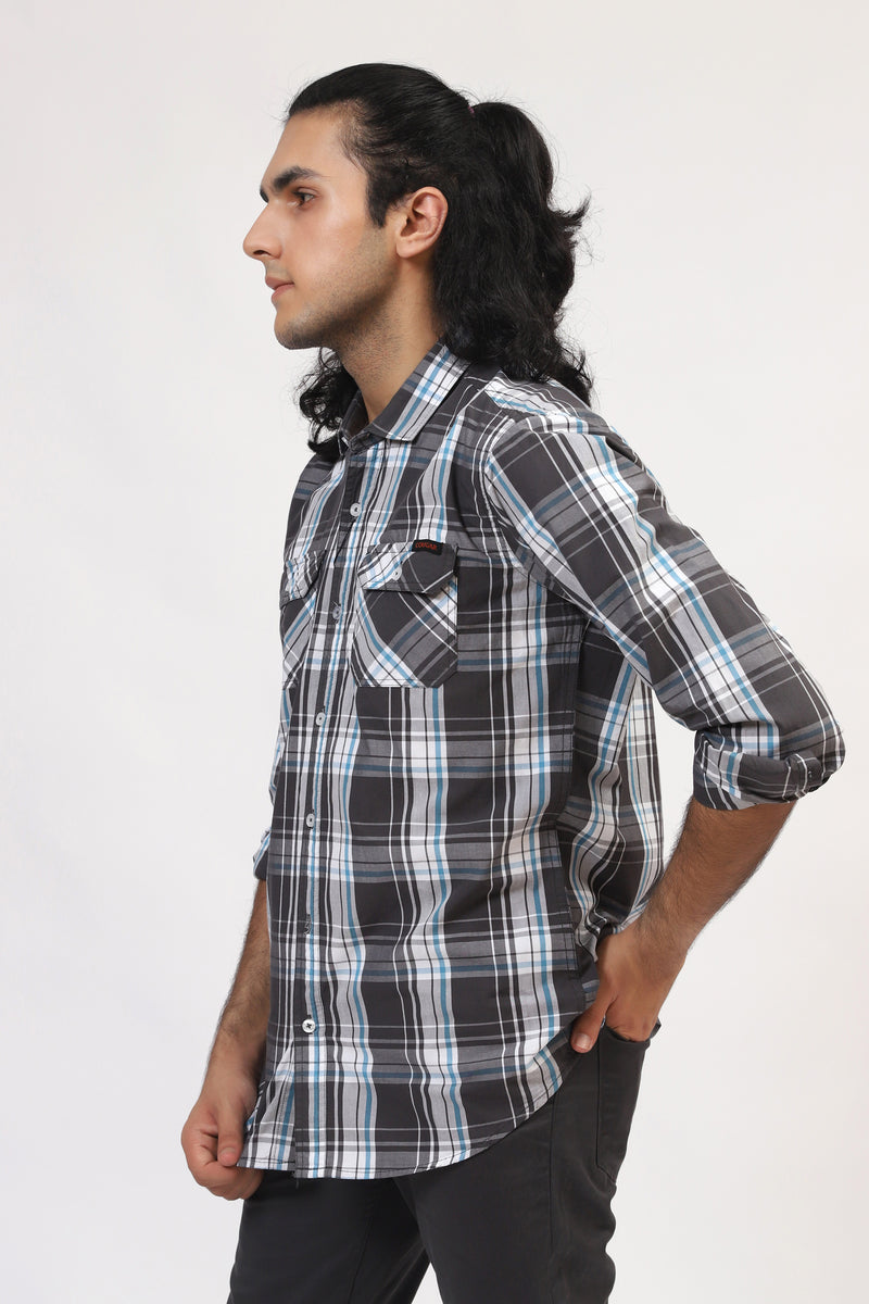 Double Colored Checkered Shirt