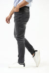 Black Faded Damage Effect Jeans
