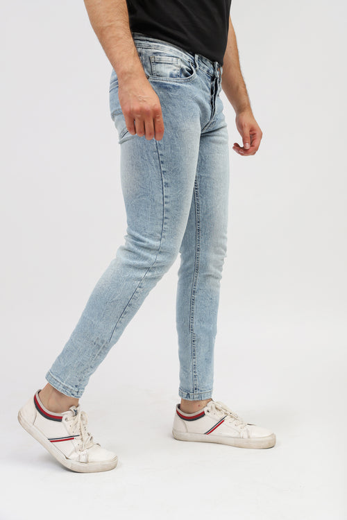 Slim Fit Sky Blue Jeans