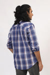 Blue Checkered Casual Shirt