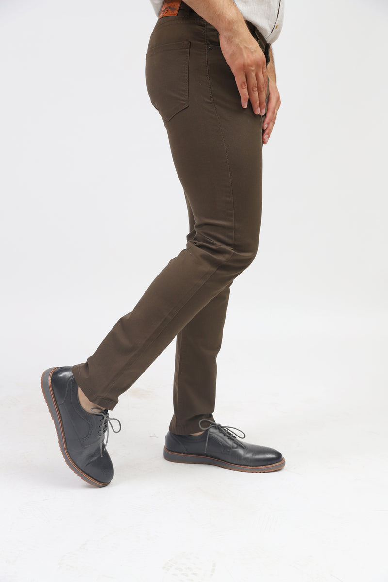 Brown 5-Pocket Pants