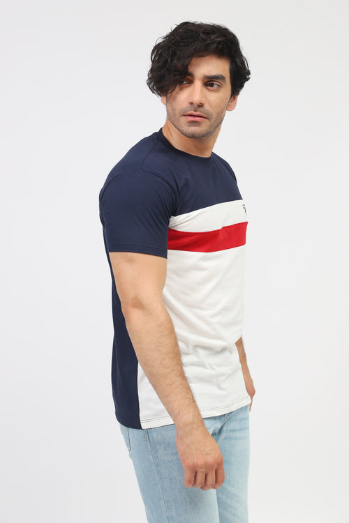 Tri-Color Striped Tee