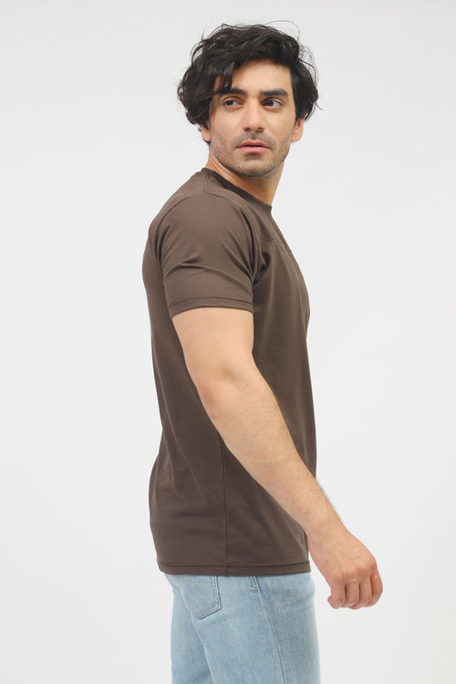 Chocolate Round Neck Tee