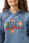 Embroidered Hoodie With Diamonties