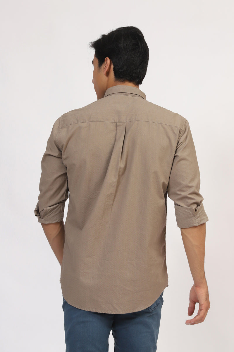 Basic Button Down Shirt With Logo