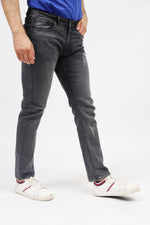 Slim Fit Black Faded Wash Jeans