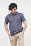 Navy Melange Polo