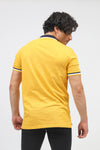 Solid Mustard Polo With Logo