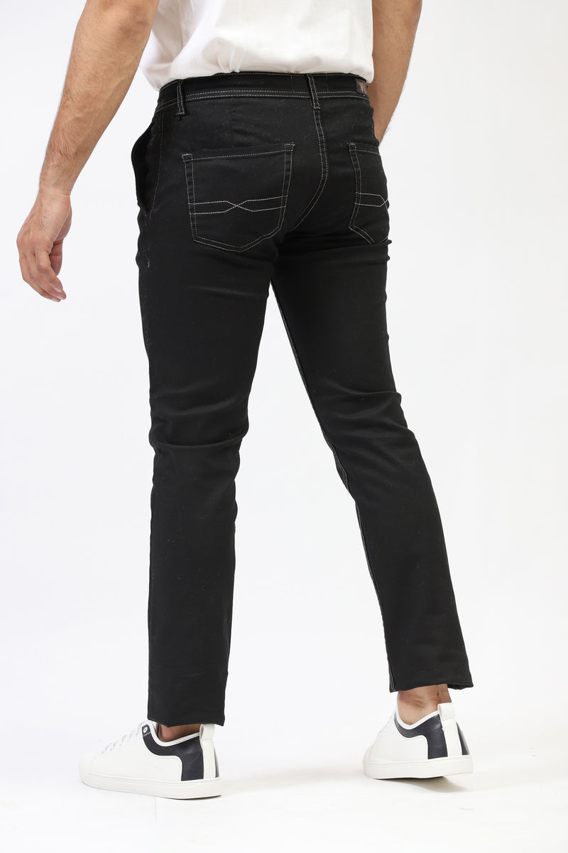 Black Chino With Contrast Stitching