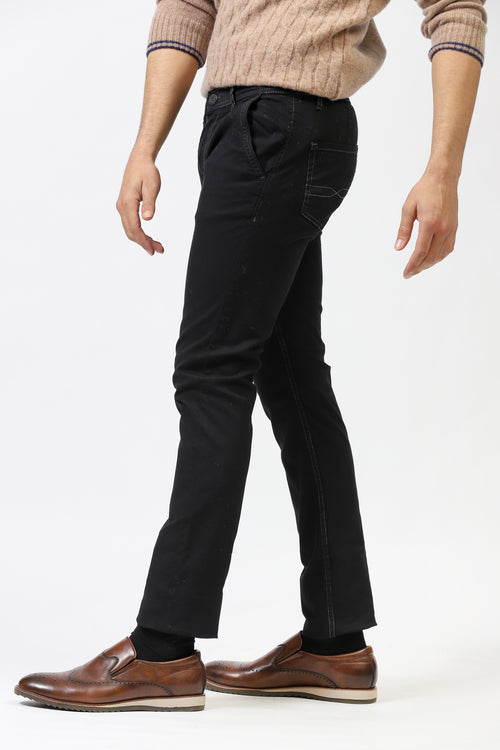 Contrast Stitching Chinos