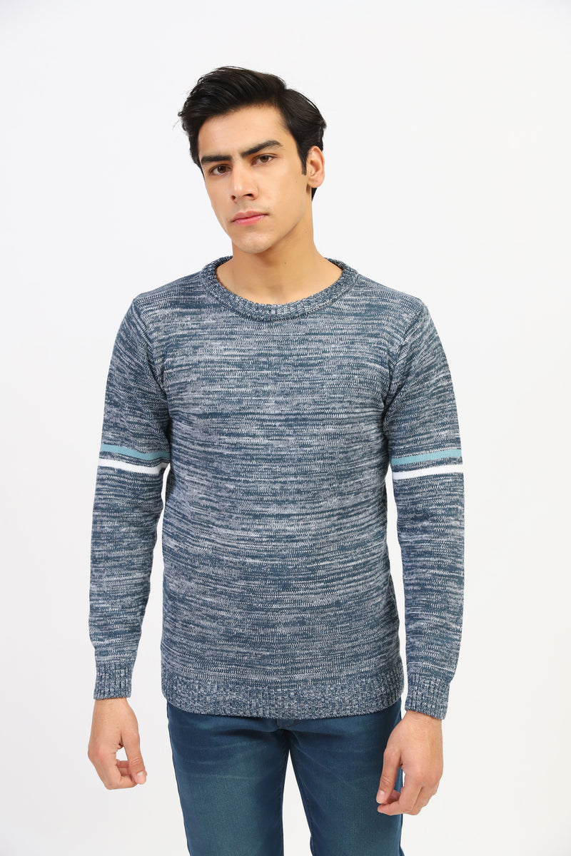 Melange Basic Round Neck