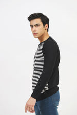 Round Neck Striper With Contrast Sleeves